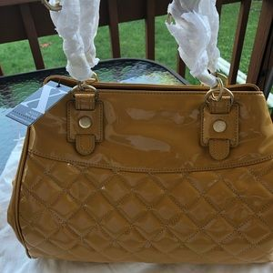 MAXX NY yellow patent big bag! New w tags